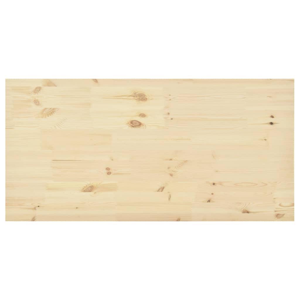 Stolní deska přírodní borové dřevo obdélníková 140x70x2,5 cm