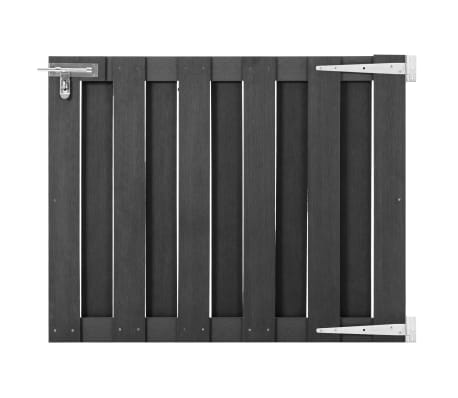 vidaXL Garden Gate WPC 100x80 cm Grey