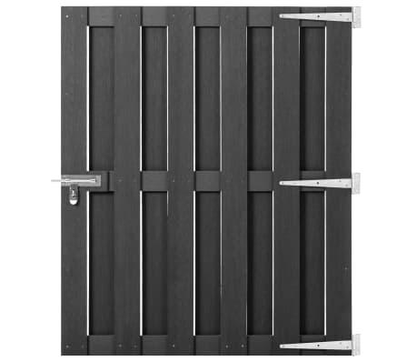 vidaXL Garden Gate WPC 100x120 cm Grey