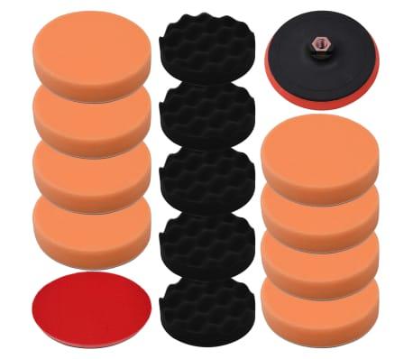 vidaXL Juego de esponjas de pulido 14 piezas 150 mm