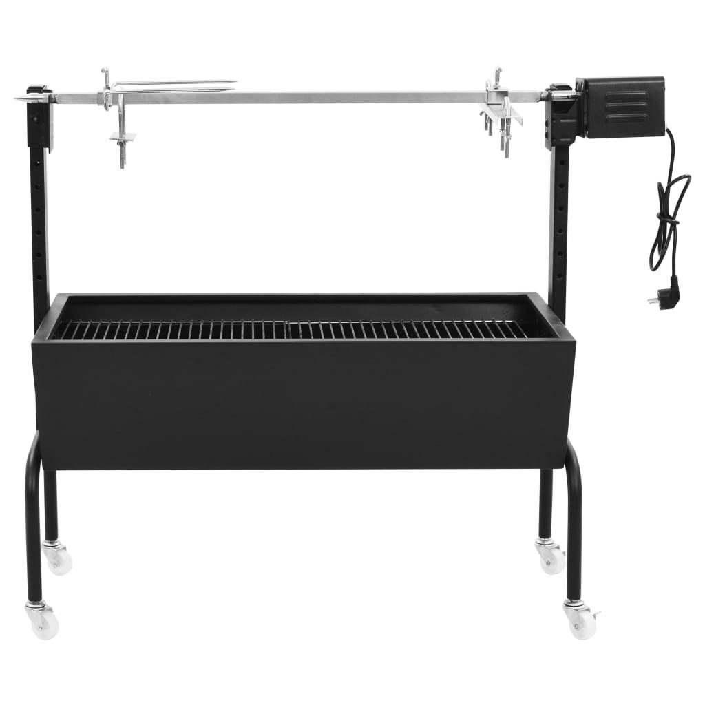 vidaXL BBQ draaispit elektrisch roestvrij staal