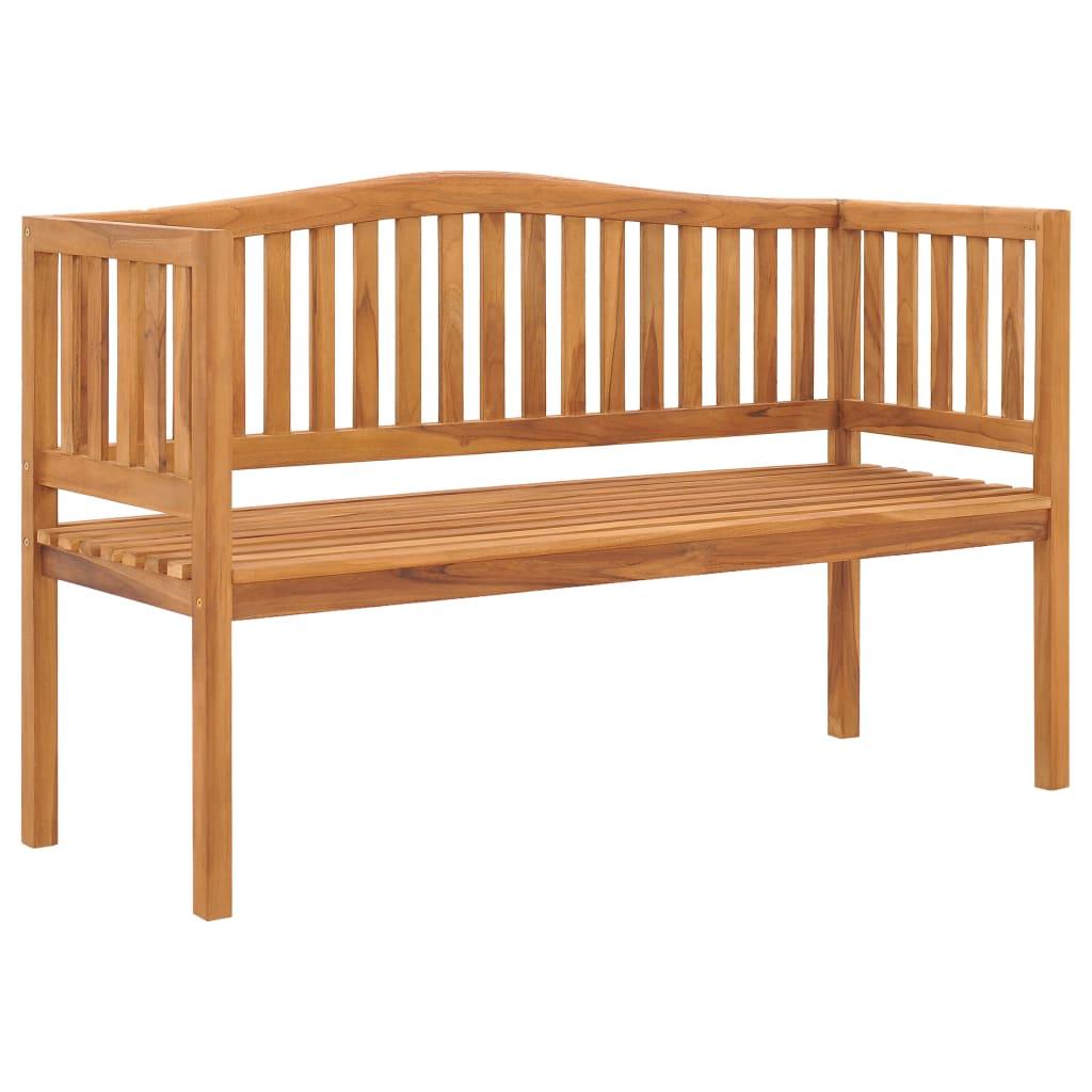 vidaXL Bancă de grădină, 150 cm, lemn masiv de tec vidaxl.ro