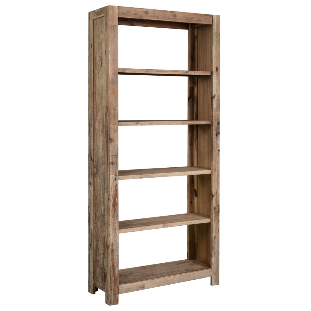 Bücherregal 80x30x170 cm Akazie Massivholz
