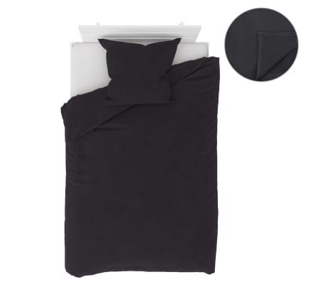 vidaXL Bäddset 4 delar fleece antracit 135x200/80x80 cm