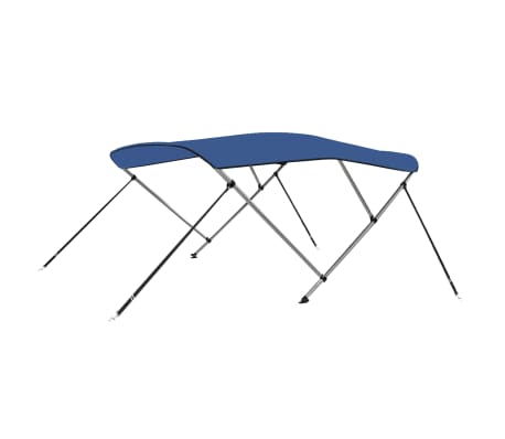 vidaXL Båtkapell 3 bågar blå 183x140x140 cm