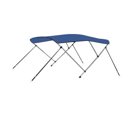 vidaXL Båtkapell 3 bågar blå 183x160x140 cm