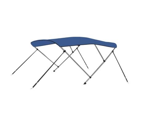 vidaXL Båtkapell 3 bågar blå 183x180x140 cm