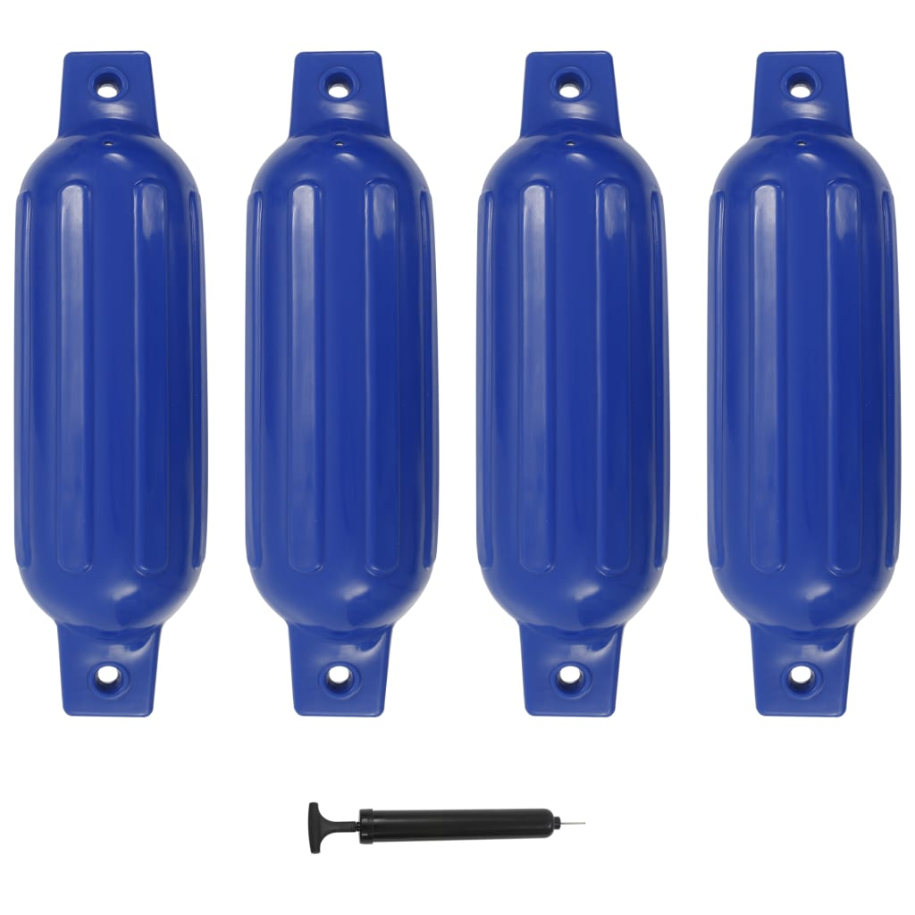 vidaXL Lodní fender 4 ks modrý 41 x 11,5 cm PVC