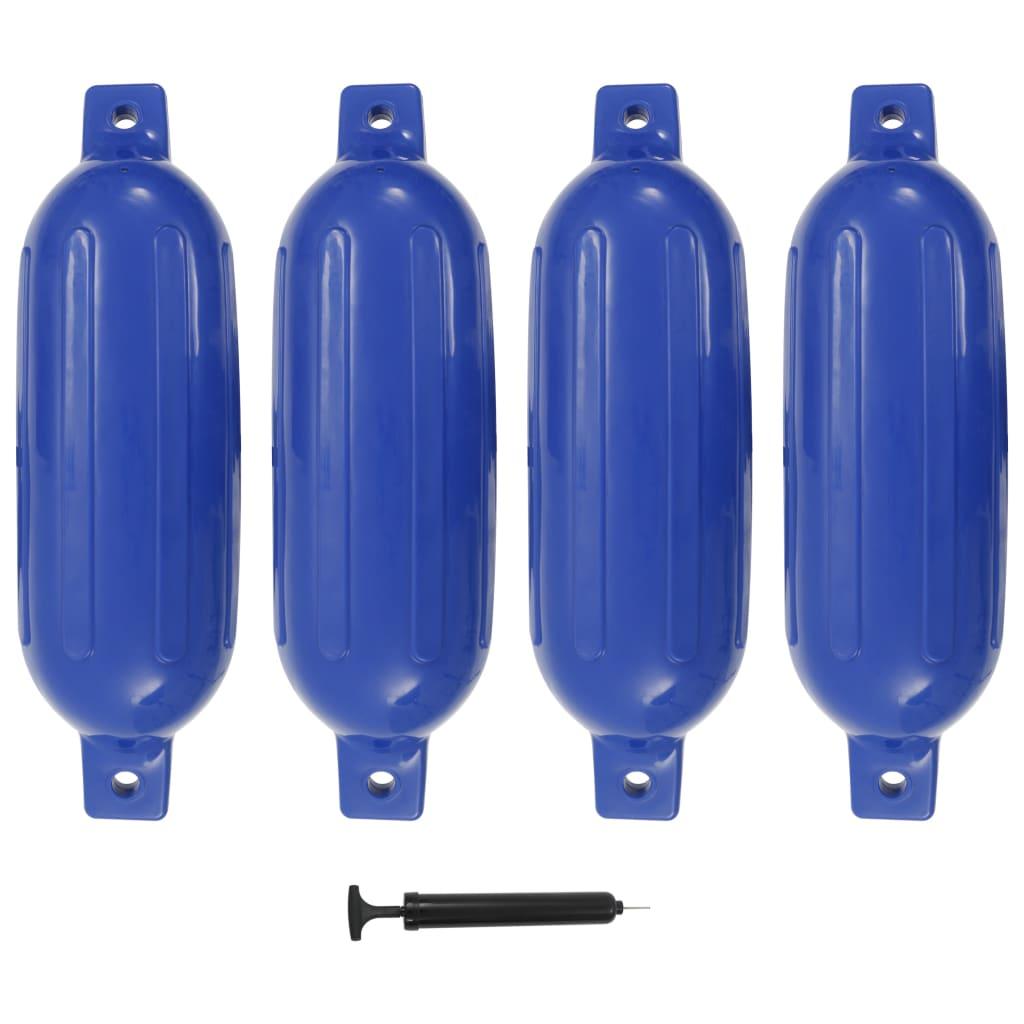 vidaXL Lodní fender 4 ks modrý 58,5 x 16,5 cm PVC