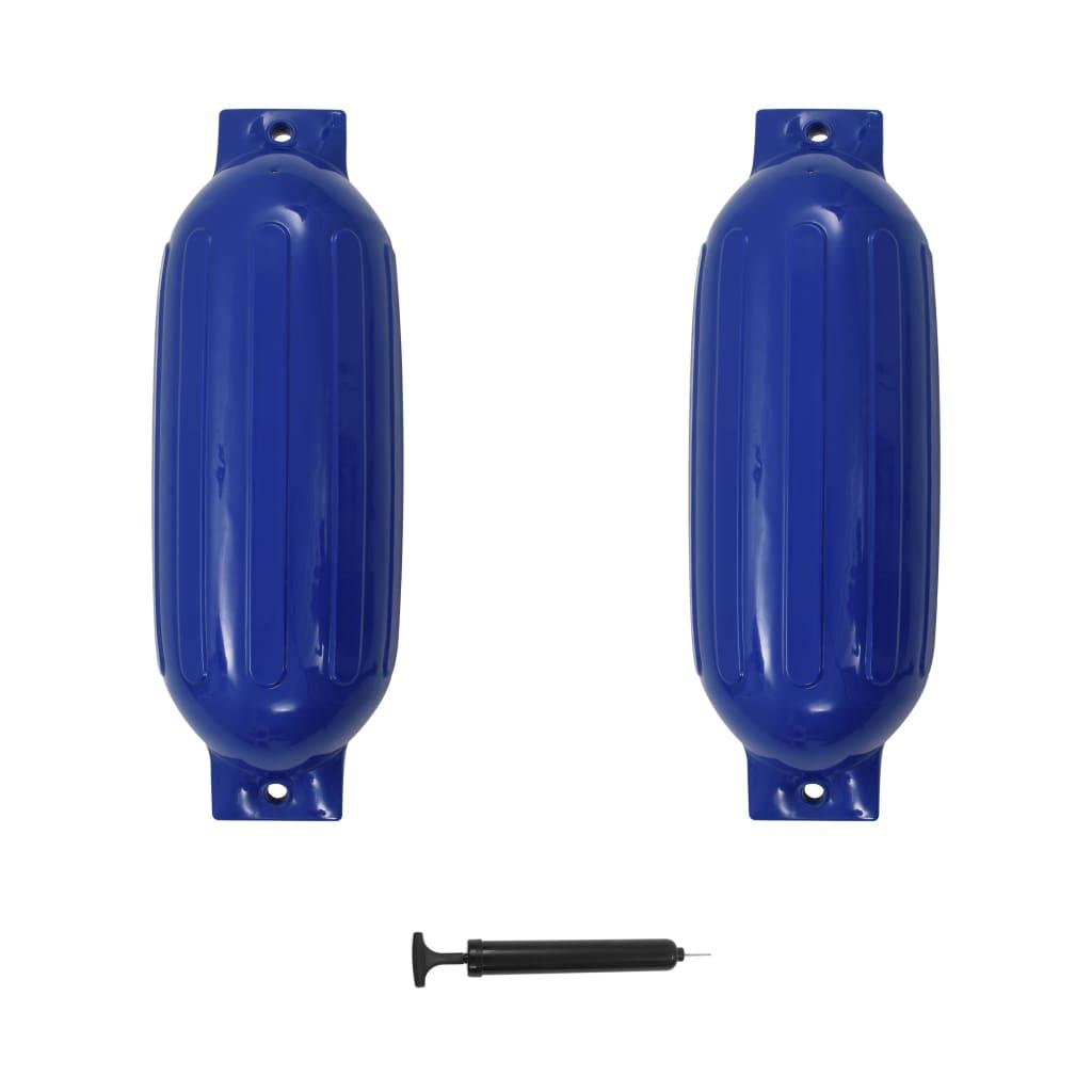 vidaXL Lodní fender 2 ks modrý 69 x 21,5 cm PVC