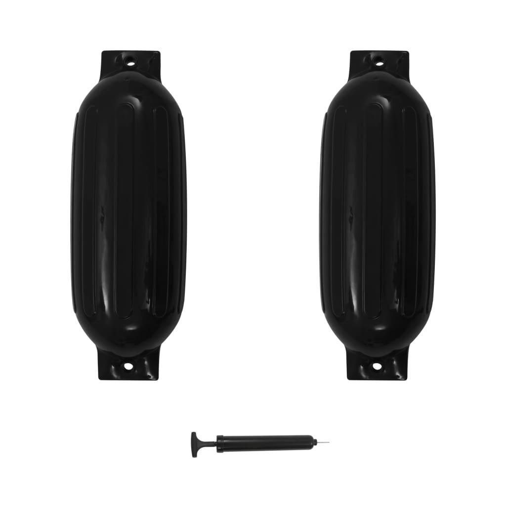 vidaXL Baloane de acostare, 2 buc., negru, 69 x 21,5 cm, PVC imagine vidaxl.ro
