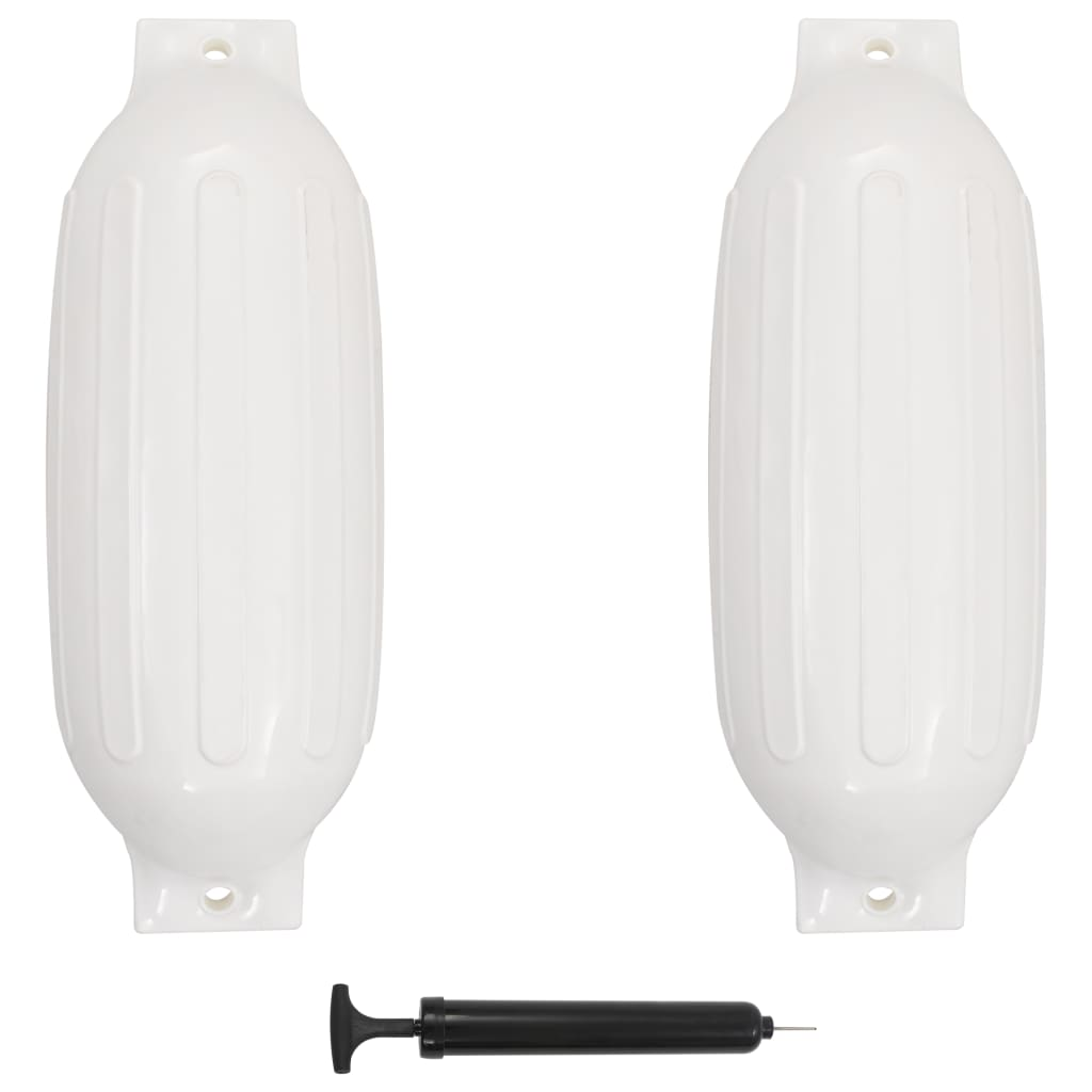 vidaXL Baloane de acostare, 2 buc., alb, 69 x 21,5 cm, PVC imagine vidaxl.ro