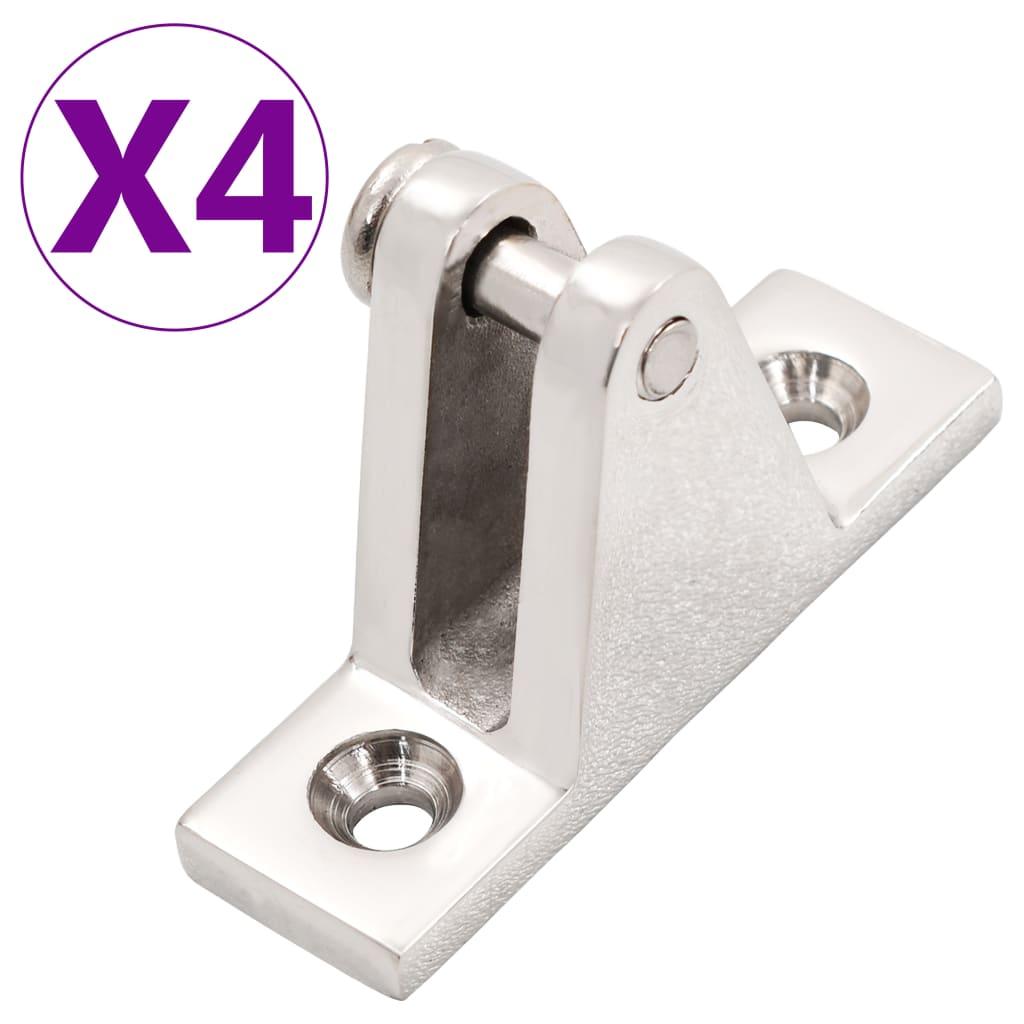 vidaXL Lodní základny bimini 4 ks nerezová ocel