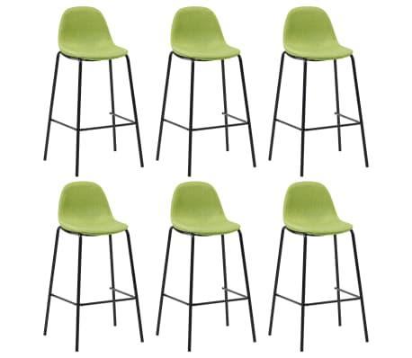 Détails sur vidaXL 6x Chaises de Bar Vert Tissu Tabouret Fauteuil Siège Bistrot Comptoir