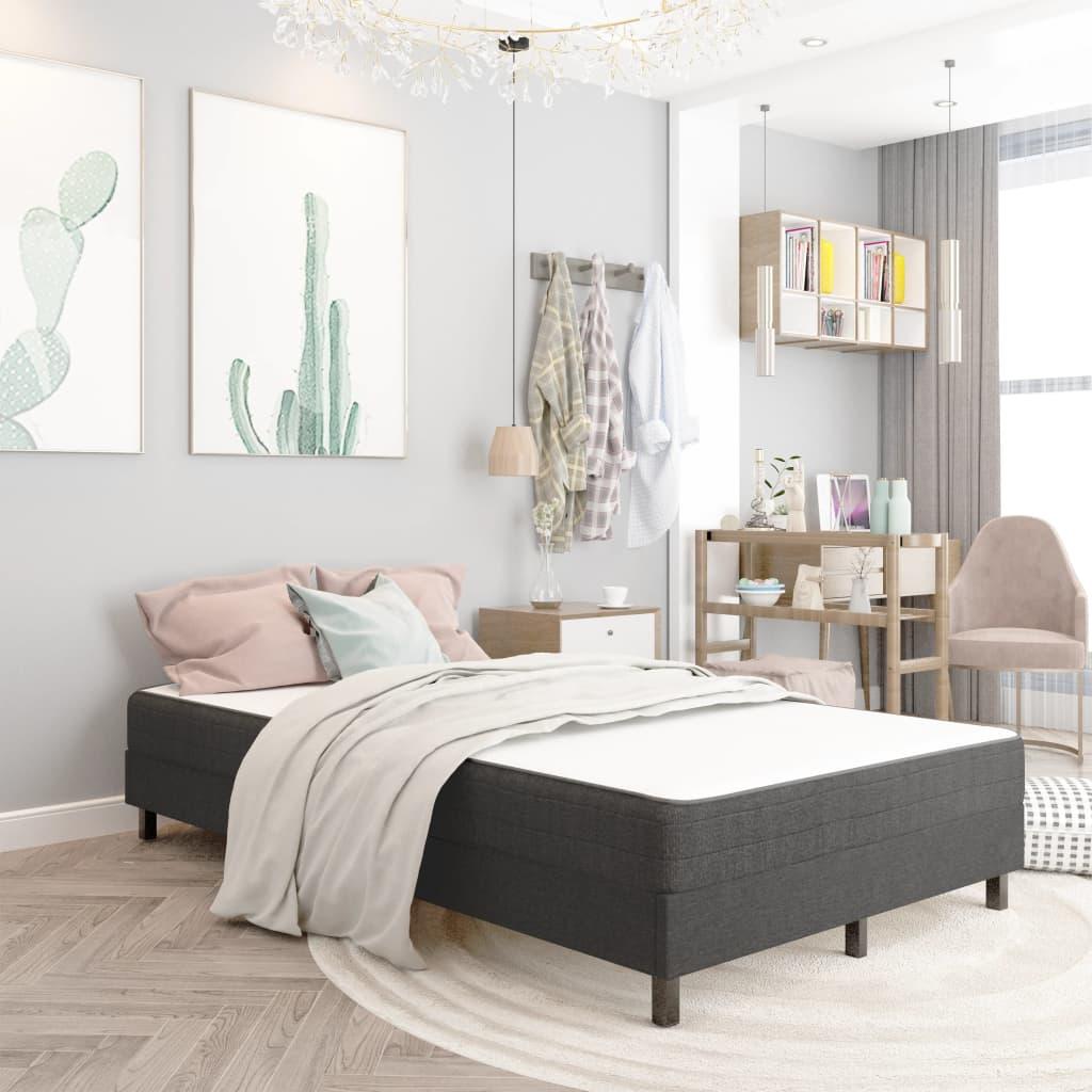 vidaXL sengestel til boxmadras 120x200 cm stof grå