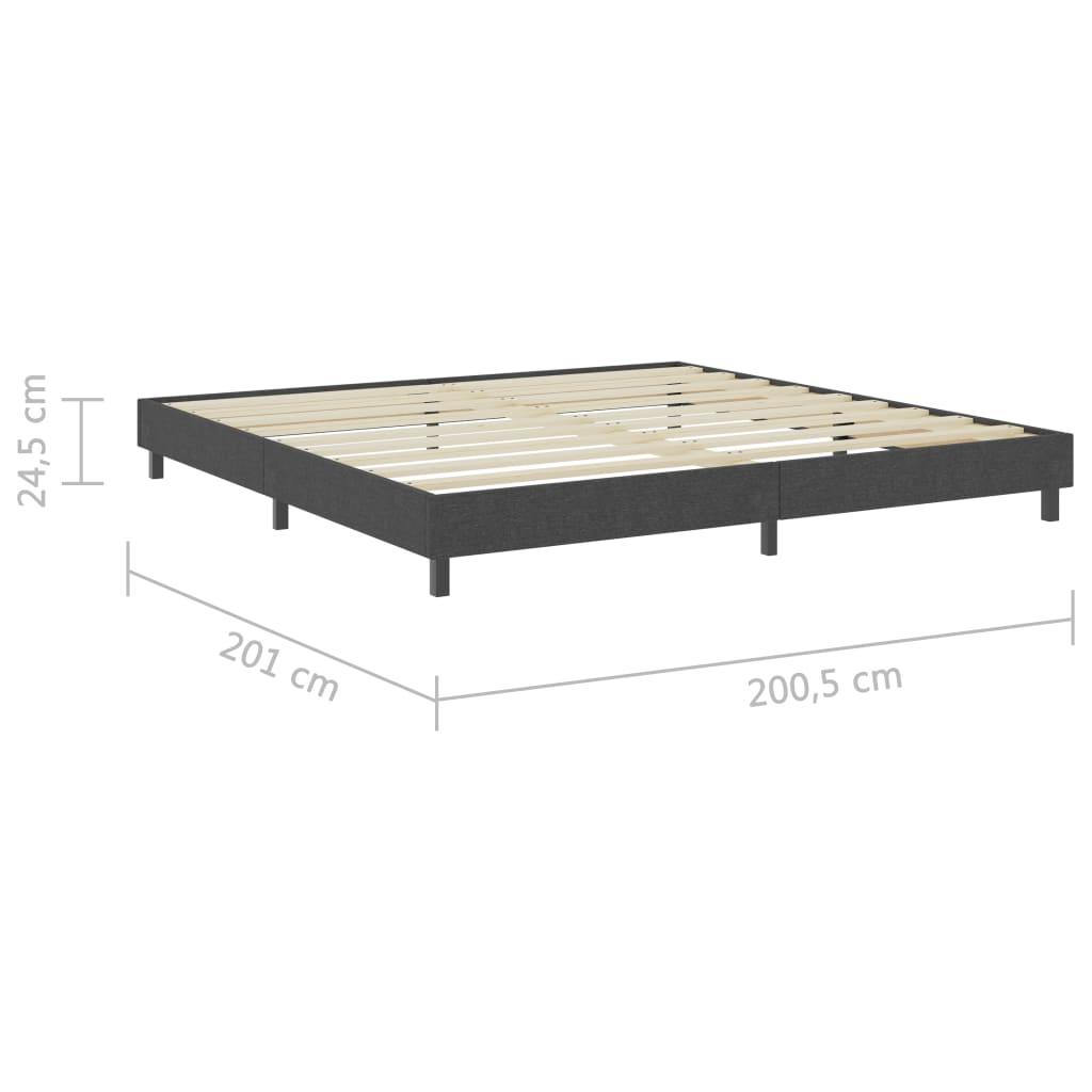 vidaXL Bedframe stof grijs 200x200 cm