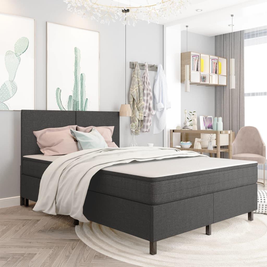 vidaXL Rám postele šedý textil 180 x 200 cm