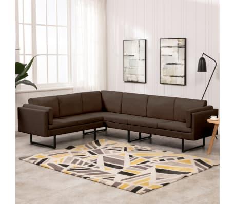 Vidaxl Corner Sofa L Shaped Brown