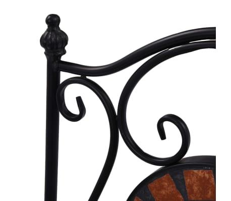vidaXL Mobilier de bistro 3 pcs mosaïque Carreau céramique Terre cuite[12/14]