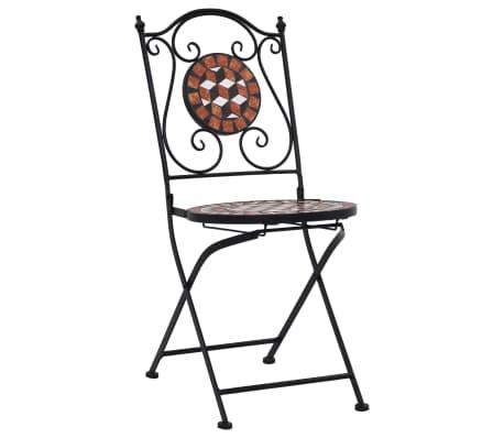 vidaXL Mobilier de bistro 3 pcs mosaïque Carreau céramique Terre cuite[3/14]