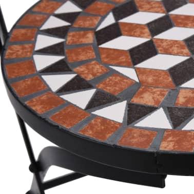 vidaXL Mobilier de bistro 3 pcs mosaïque Carreau céramique Terre cuite[11/14]