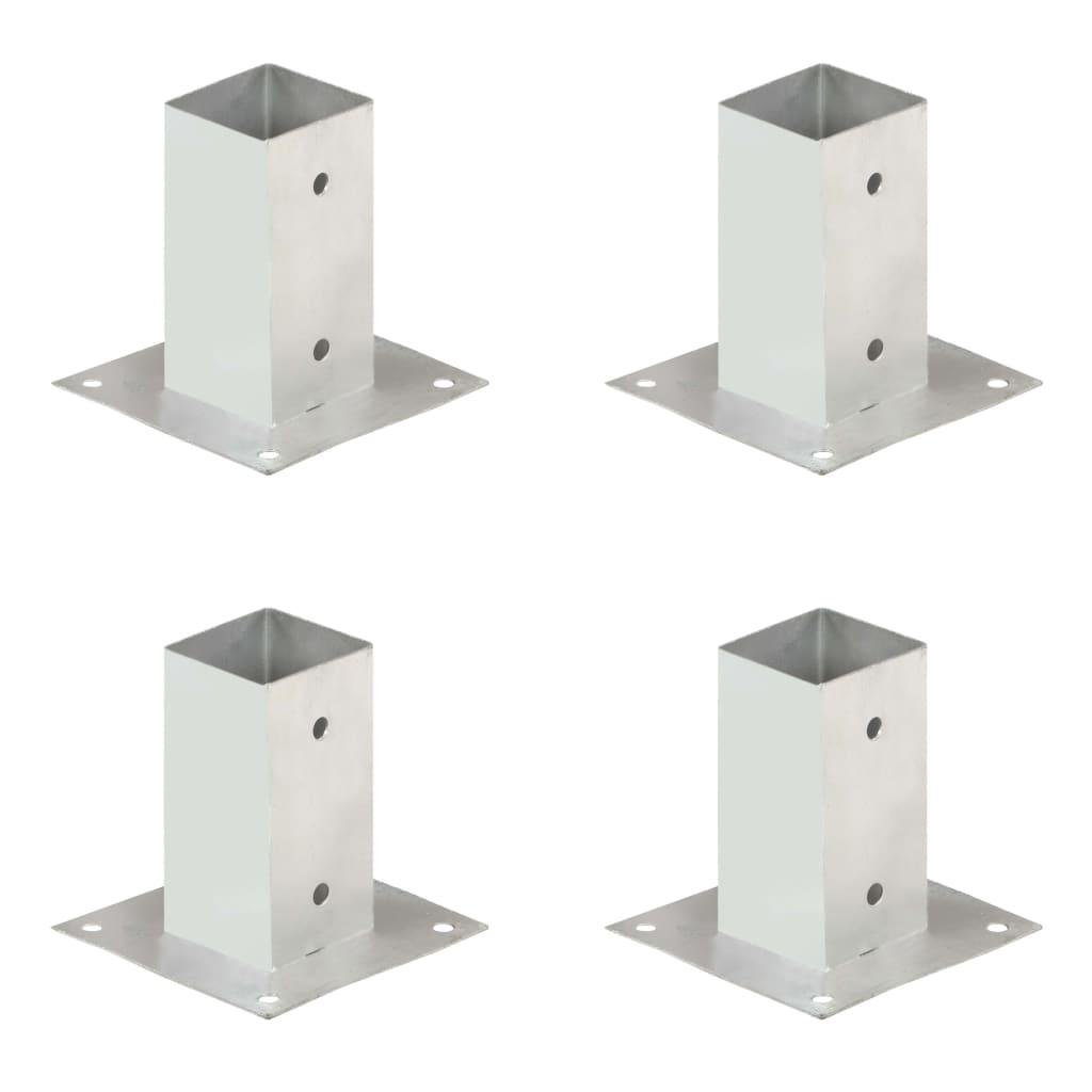 vidaXL Suporți stâlp, 4 buc., metal galvanizat, 71 mm vidaxl.ro