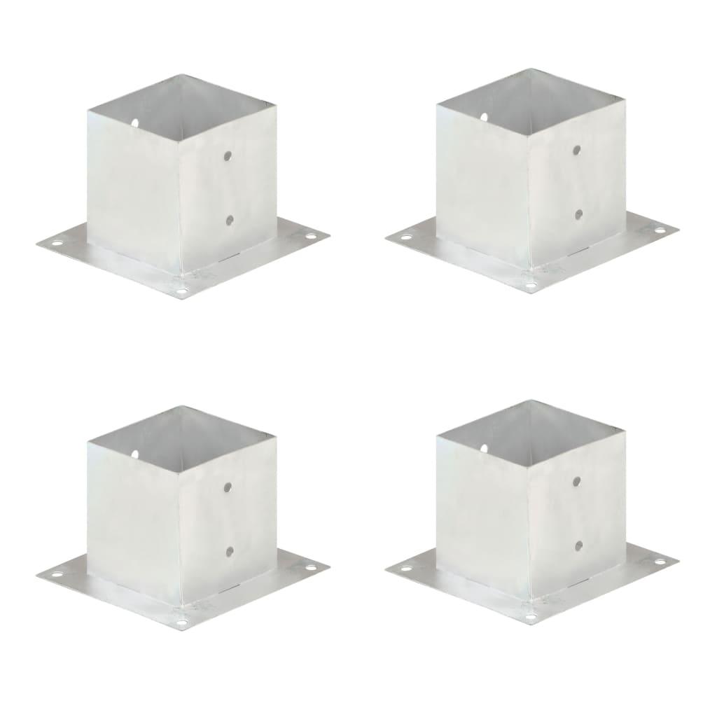 vidaXL Suporți stâlp, 4 buc., metal galvanizat, 141 mm vidaxl.ro