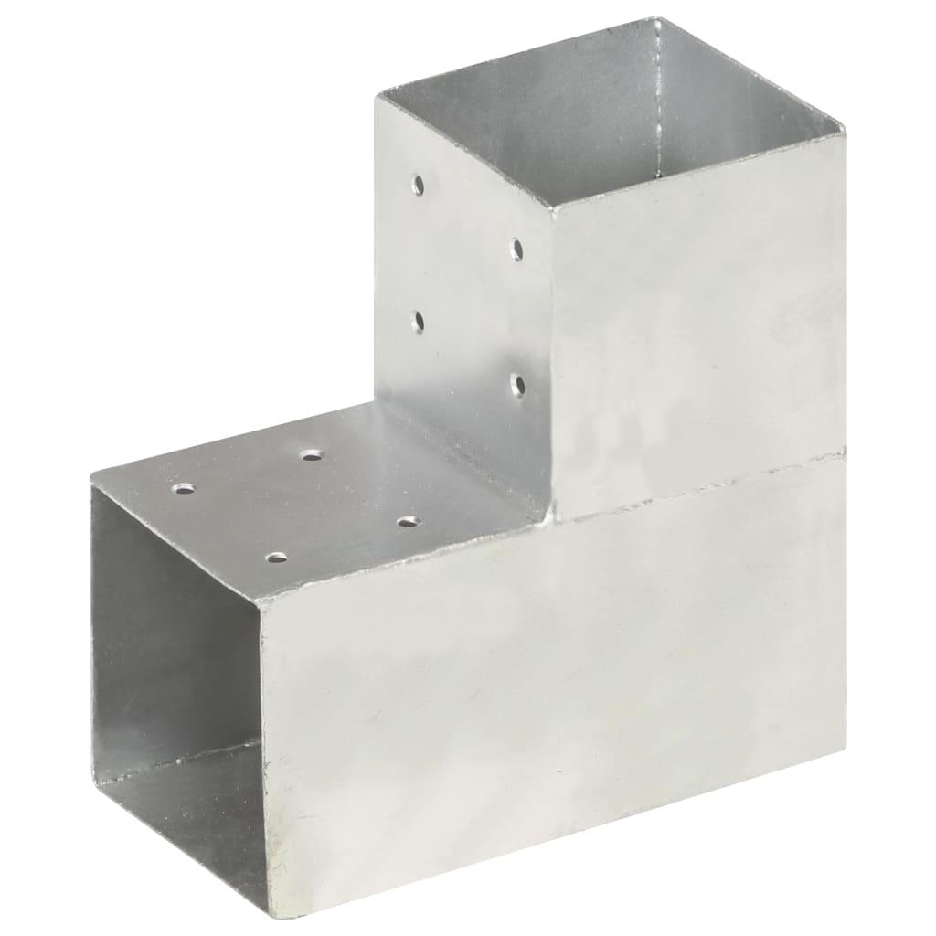 vidaXL Conector de grindă, formă L, 101 x 101 mm, metal galvanizat poza 2021 vidaXL