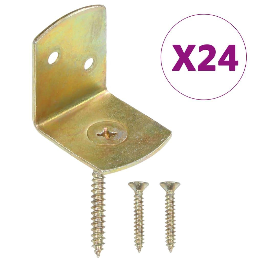 vidaXL Držáky plotových polí 24 ks ve tvaru L pozinkovaný kov