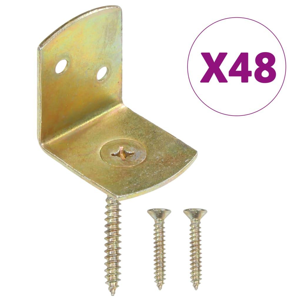 vidaXL Držáky plotových polí 48 ks ve tvaru L pozinkovaný kov
