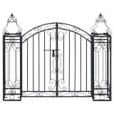 vidaXL Cancello Ornamentale da Giardino Ferro Battuto 22x20,5x100 cm