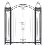 "vidaXL Ornamental Garden Gate Wrought Iron 48""x8.1""x63"""