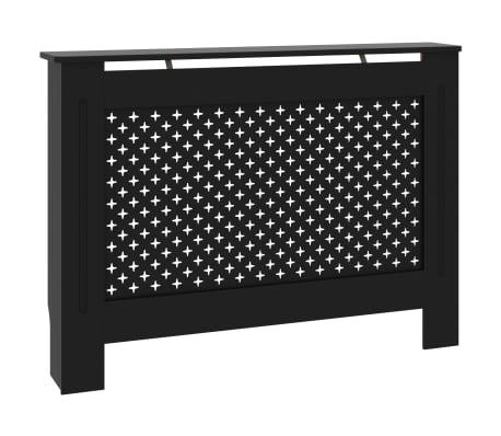 vidaXL Kryt na radiátor černý 112 x 19 x 81 cm MDF