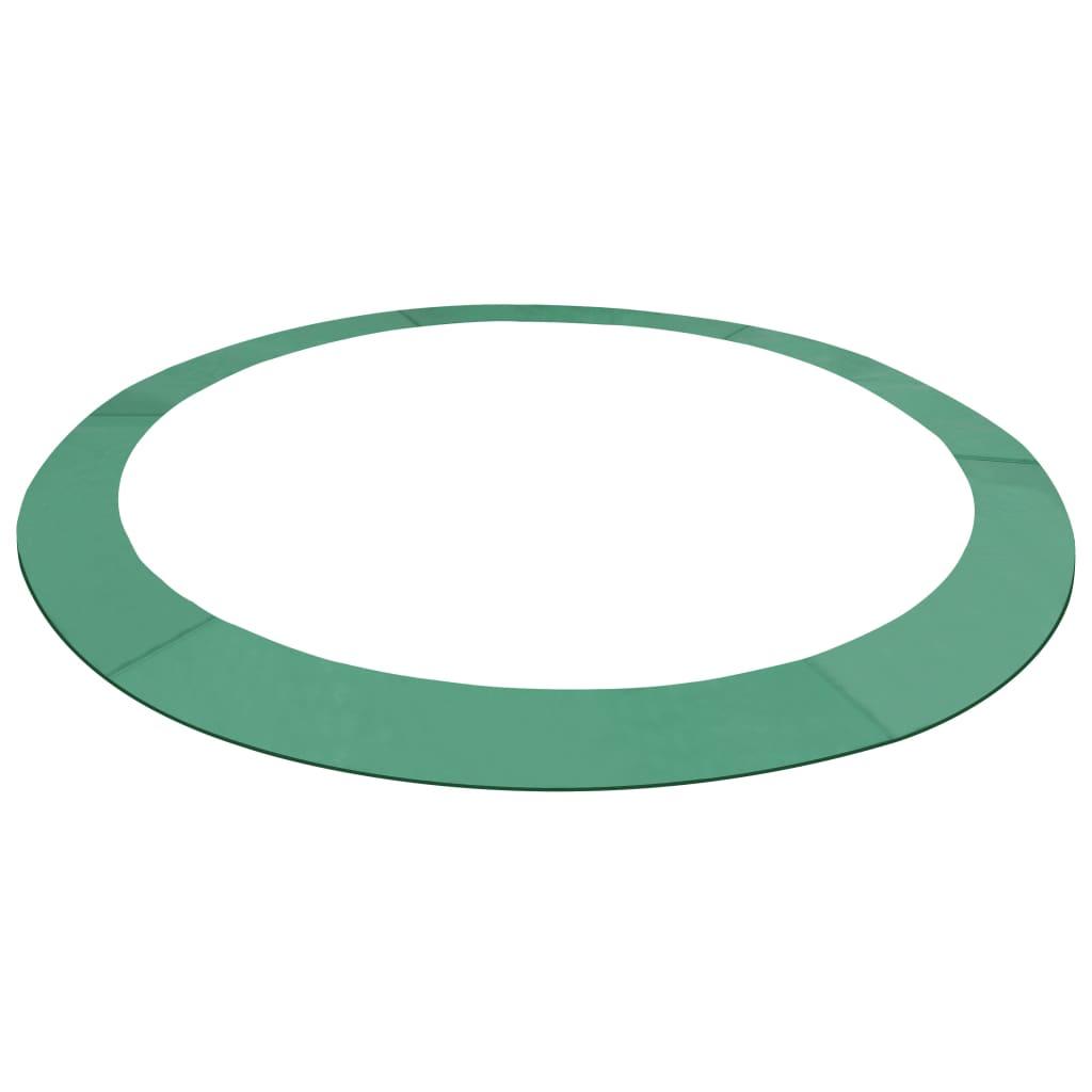 vidaXL Bandă de siguranță trambulină rotundă de 3,05 m, verde, PE imagine vidaxl.ro