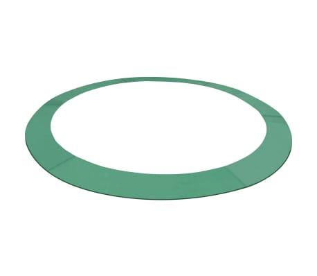 vidaXL Coussin de sécurité PE Vert de trampoline rond de 3,66 m