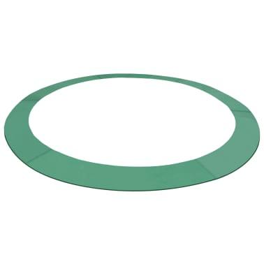 vidaXL Coussin de sécurité PE Vert de trampoline rond de 3,66 m[1/4]