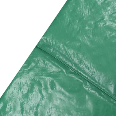 vidaXL Coussin de sécurité PE Vert de trampoline rond de 3,66 m[3/4]