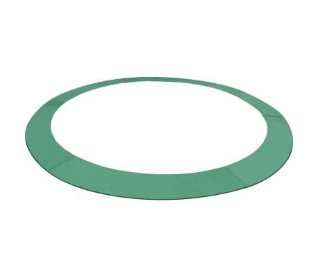 vidaXL Bandă de siguranță trambulină rotundă de 3,96 m, verde, PE