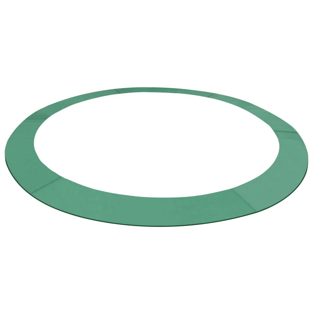 vidaXL Bandă de siguranță trambulină rotundă de 4,57 m, verde, PE imagine vidaxl.ro