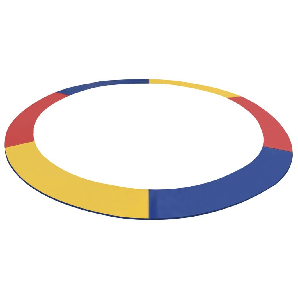 vidaXL Bandă de siguranță trambulină rotundă de 3,96 m multicolor PVC poza 2021 vidaXL