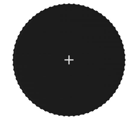 vidaXL Tapis de saut Tissu Noir pour trampoline rond de 3,96 m