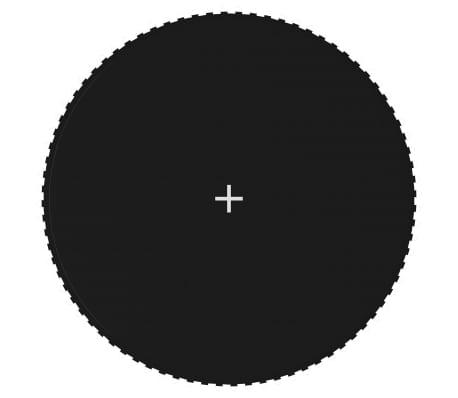 vidaXL Tapis de saut Tissu Noir pour trampoline rond de 4,27 m