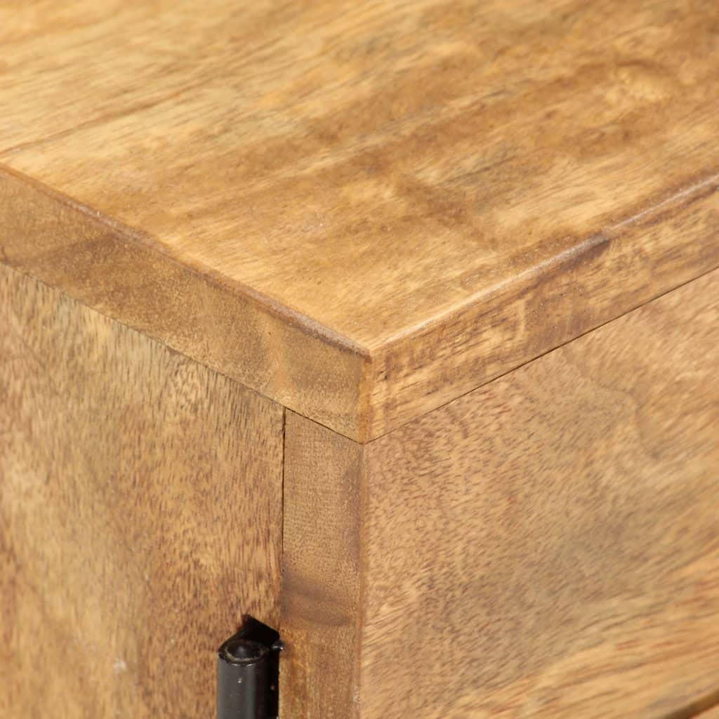 vidaXL TV-meubel 118x30x40 cm massief sheeshamhout wit