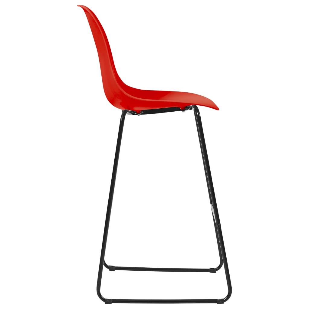 vidaXL 5-delige Barset kunststof rood