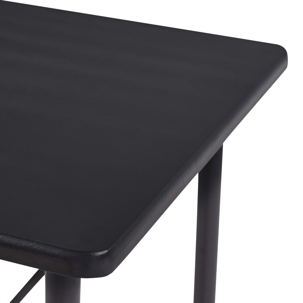 vidaXL 5-delige Barset kunststof grijs