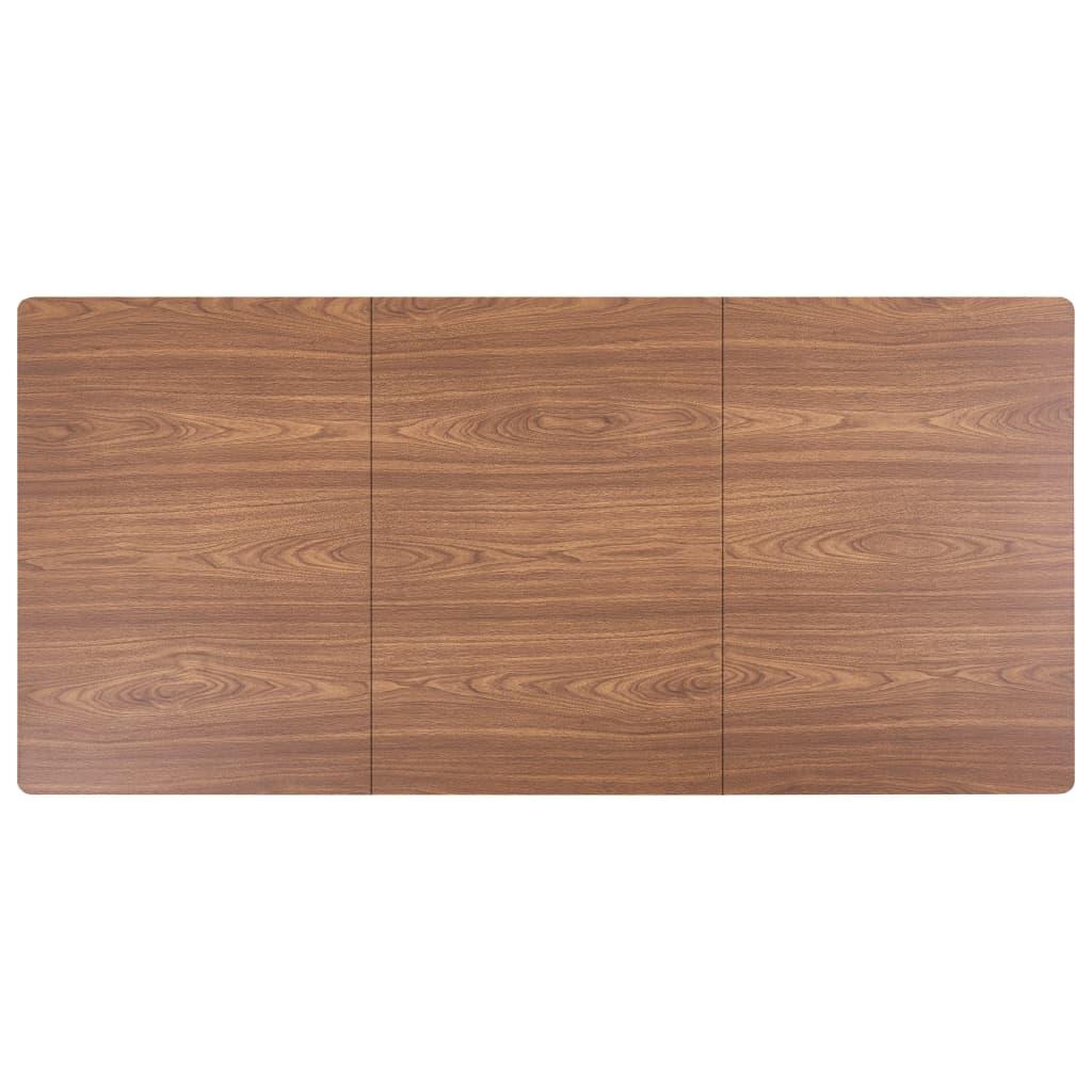vidaXL 9-delige Eethoek kunstleer bruin