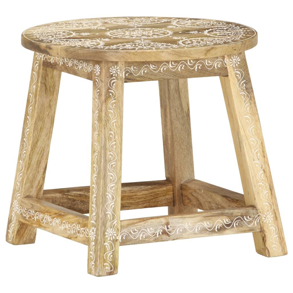 Ručně natíraná stolička 38 x 38 x 35 cm masivní mangovník