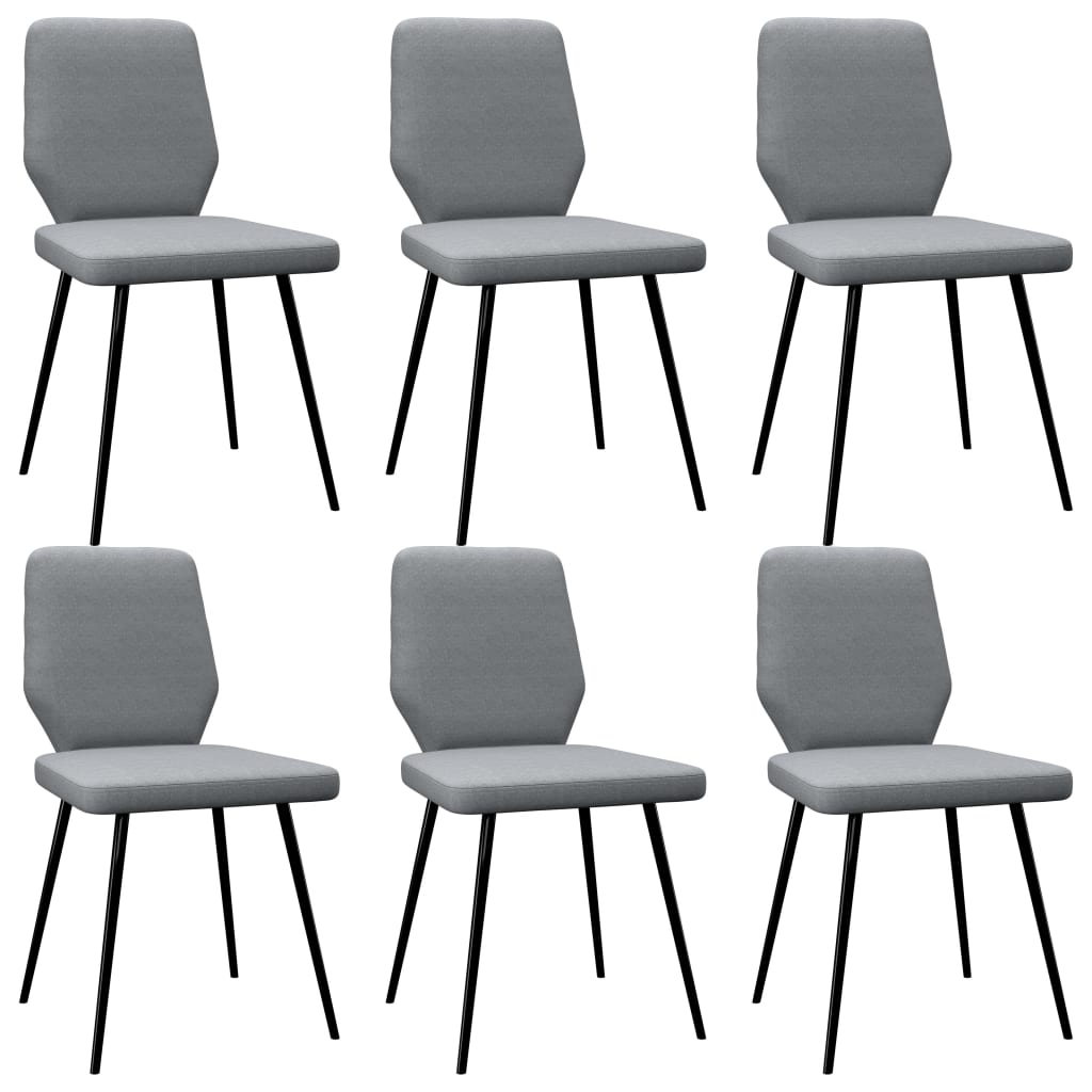 vidaXL Blagovaonske stolice od tkanine 6 kom svjetlosive