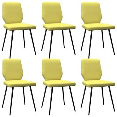 vidaXL Esszimmerstühle 6 Stk. Limonengelb Stoff |