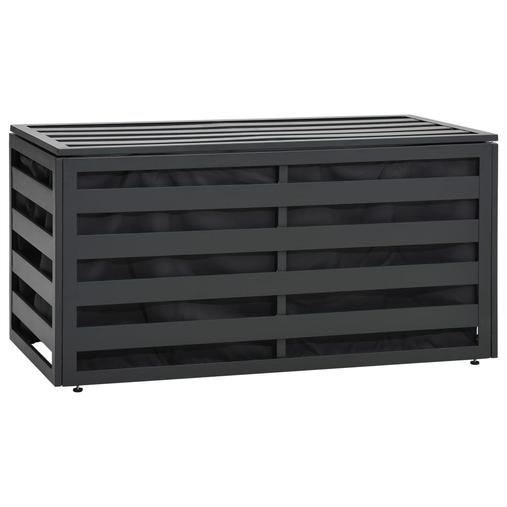 Zahradní úložný box hliník 100 x 50 x 50 cm antracitový